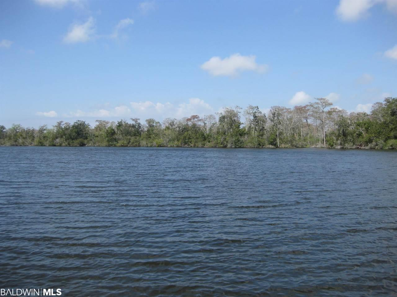 BUILD YOUR HOME ON THIS PRISTINE WATERFRONT PROPERTY ON FISH RIVER. PROPERTY HAS APPROXIMATELY 38+ ACRES WITH APPROXIMATELY 300+/- ON THE WIDE PART OF THE RIVER ABOUT TWO MILES NORTH OF WEEKS BAY.  HOME ON PROPERTY IS BEING SOLD AT NO VALUE.