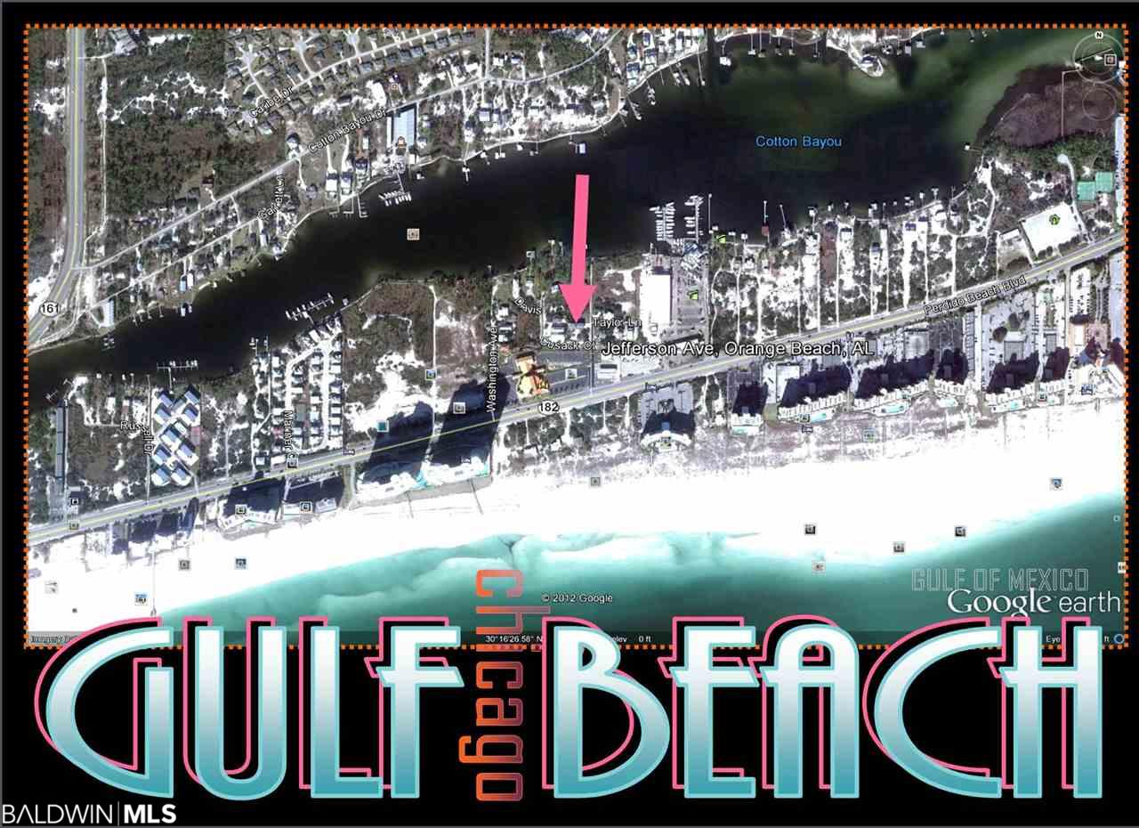 LOCATION. LOCATION! BEACH & BOATING! GULF VIEWS Corner Lot, Build your SHORT TERM RENTAL here!  BAY, RIVER ICW VIEWS! Across sheet from  turquoise water - Gulf of Mexico & Bay in desirable Orange Beach! Consists of 3 lots, 125'x25' each, for total area 125'x75' Minutes from Public Beach & Boat Launch, Publix, Starbucks, Shopping, Outlet Mall, Restaurants! RS3 Single Family Residence. Build 1150sq home or LARGER, Buyer to verify any and all info. Corner lot!