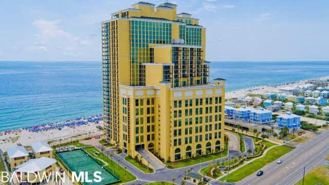 This extremely up-graded unit is one of the largest 4 bedroom units in the building; unit was designed by professional kitchen and bath designer. This unit has 2 separate living rooms; both with large TV's; one view of north; other view of Gulf. This unit has every upgrade imaginable; beautiful granite; custom showers; large refrigerator, pantry, custom granite and sinks. Custom cabinets and granite throughout.; very upscale unit with great rental income.