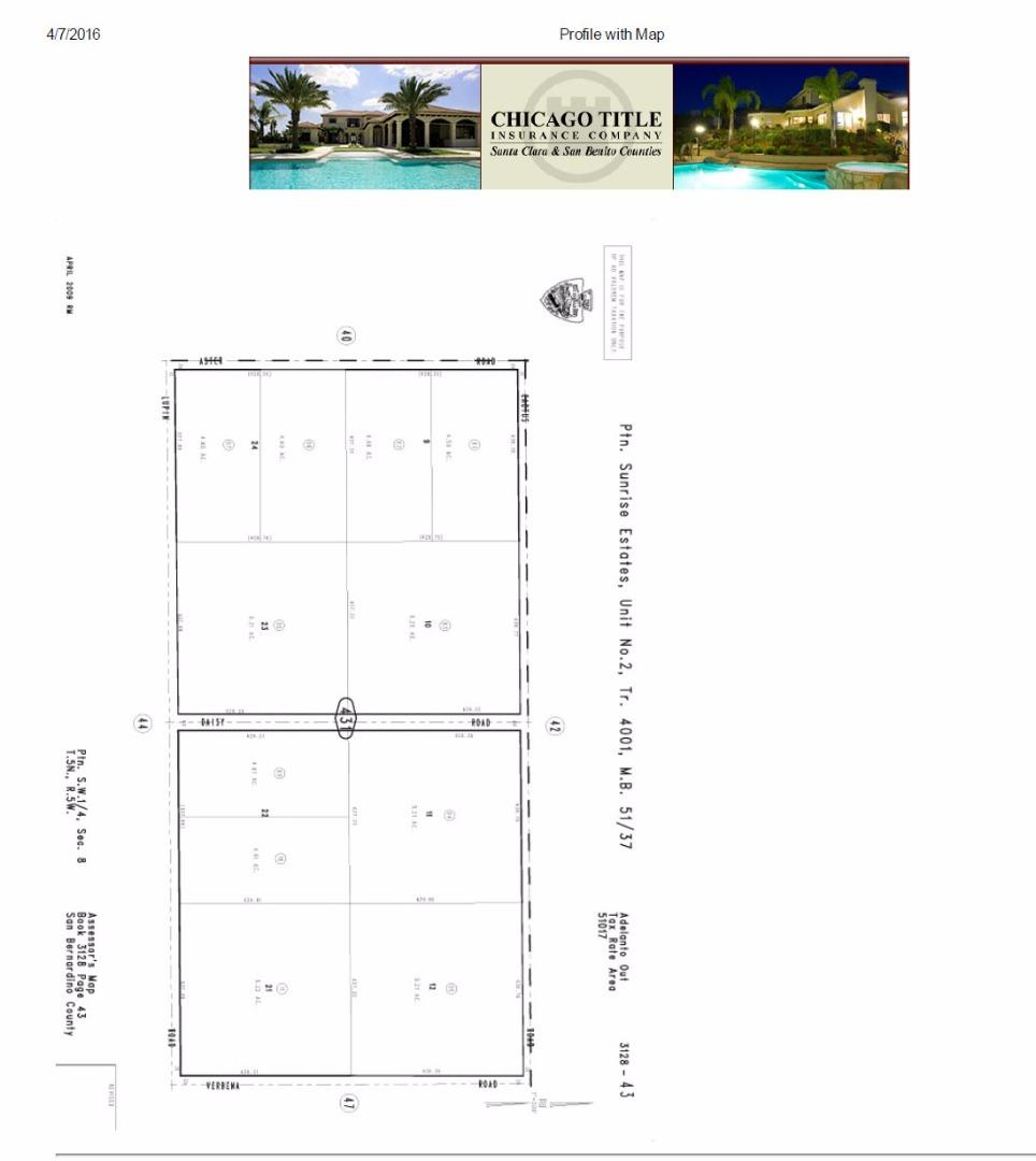 Land for Sale at 999999 Verbena Road 999999 Verbena Road Adelanto, California 92301 United States