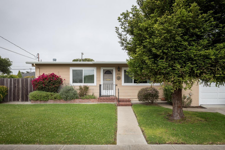 Частный односемейный дом для того Продажа на 416 Cedar Street Pacific Grove, Калифорния 93950 Соединенные Штаты
