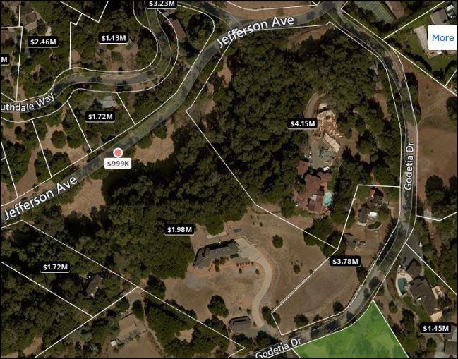 Terreno por un Venta en 4219 Jefferson Avenue Woodside, California 94062 Estados Unidos