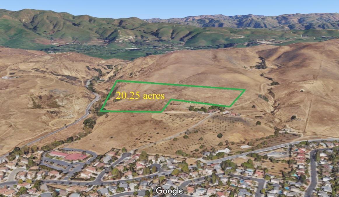 Земля для того Продажа на Land only, Uridias Ranch Road Land only, Uridias Ranch Road Milpitas, Калифорния 95035 Соединенные Штаты