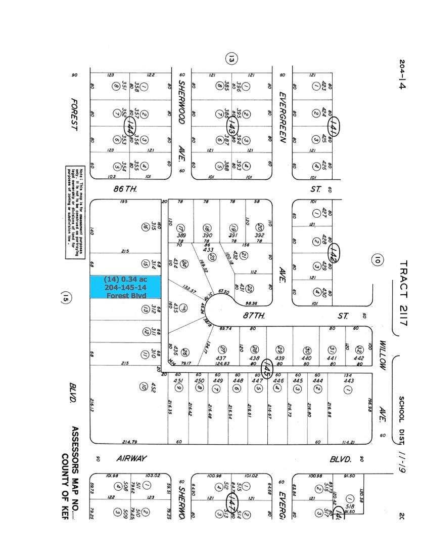 土地 のために 売買 アット Forest Boulevard Forest Boulevard California City, カリフォルニア 93505 アメリカ合衆国