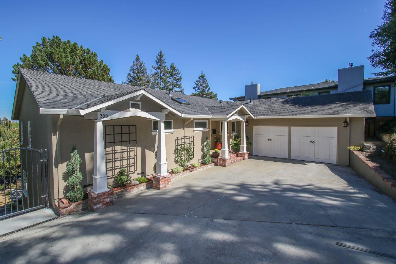 Частный односемейный дом для того Продажа на 309 Oakview Drive 309 Oakview Drive San Carlos, Калифорния 94070 Соединенные Штаты