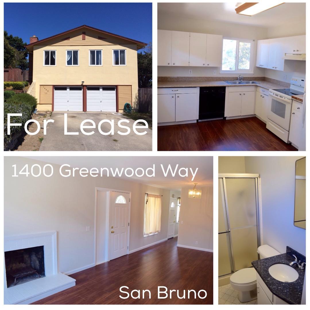 獨棟家庭住宅 為 出租 在 1400 Greenwood Way 1400 Greenwood Way San Bruno, 加利福尼亞州 94066 美國