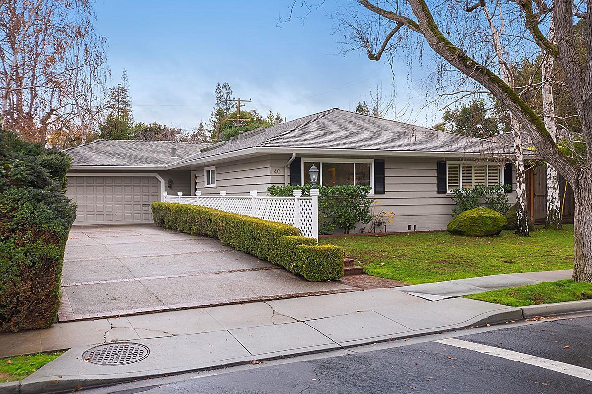 Casa Unifamiliar por un Venta en 40 WILLOW Road 40 WILLOW Road Menlo Park, California 94025 Estados Unidos