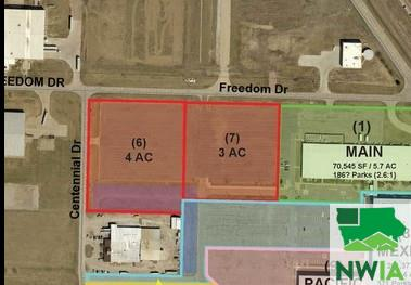 Property for sale at Parcel 5 Freedom Dr. & Centennial Dr. Unit: Lot 2, No. Sioux City,  SD 57049