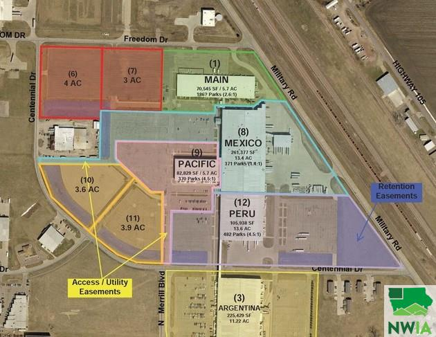 Property for sale at Parcel 5 Freedom Dr. & Centennial Dr. Unit: Lot 3, No. Sioux City,  SD 57049