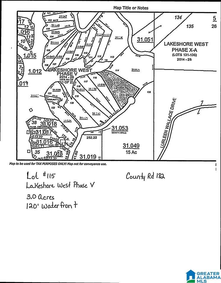 CO RD 182 115, CRANE HILL, AL 35083