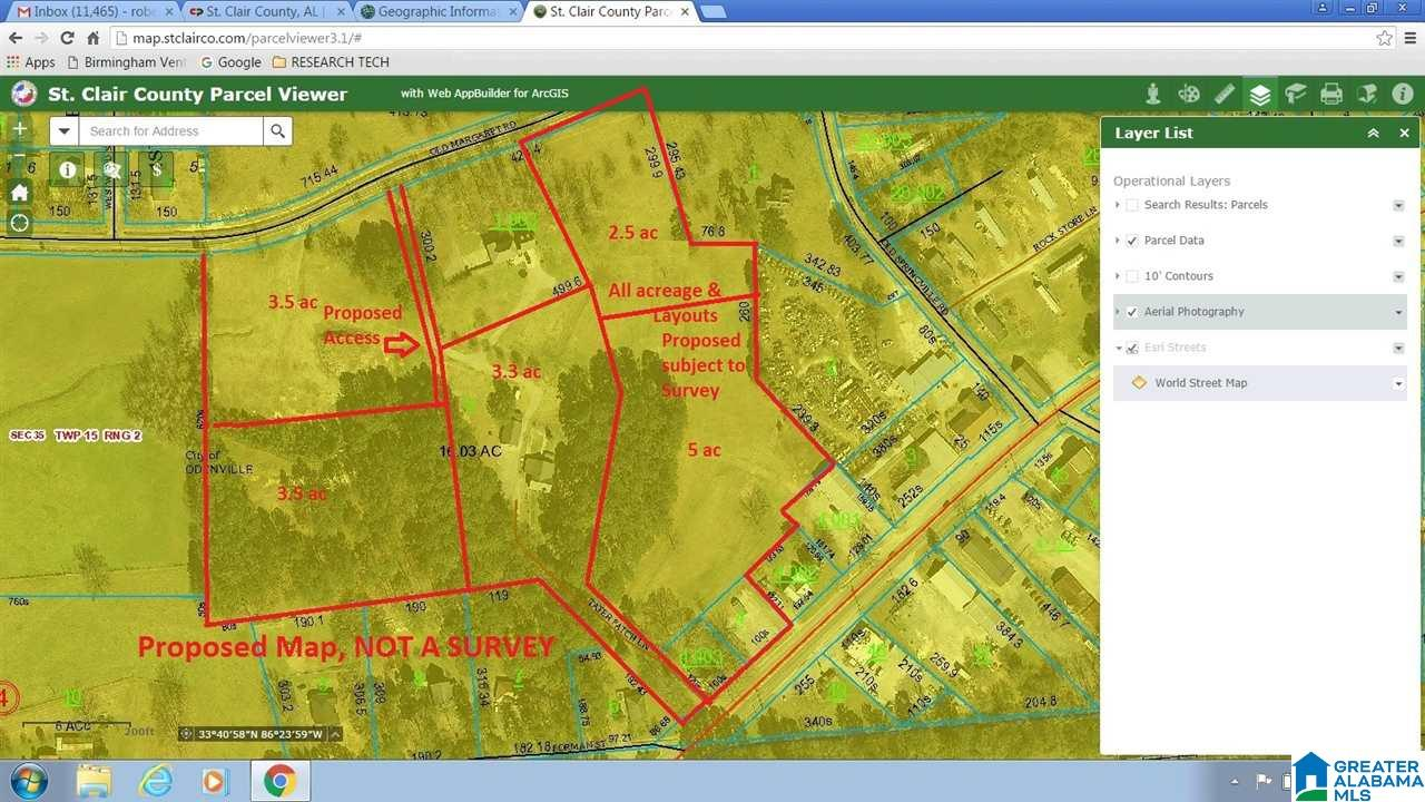 Alabama saint clair county odenville - 01 Old Margaret Rd Odenville Al