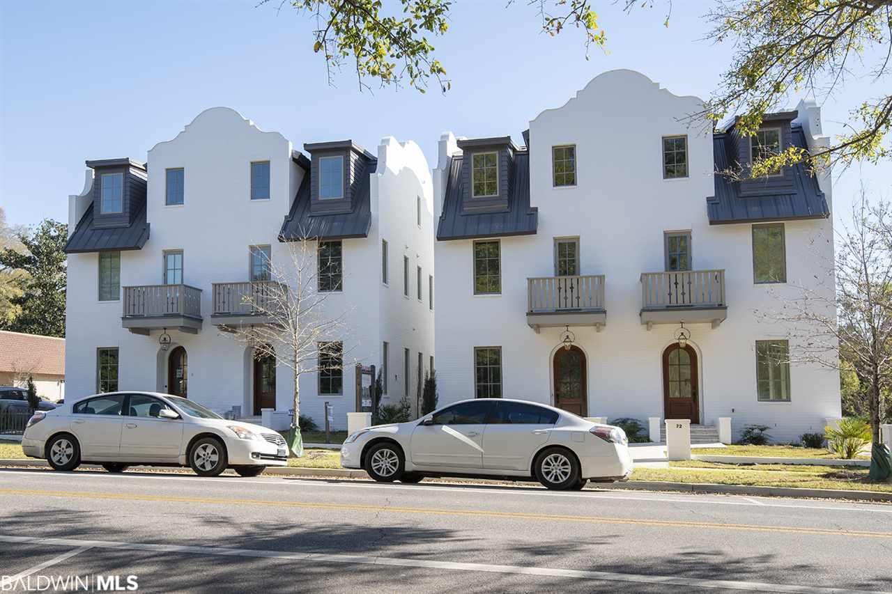 A condominium located just two blocks from the heart of downtown Fairhope, Knoll Park Residences looks out over historic Knoll Park just steps from scenic Mobile Bay. Four, 3-story brick buildings with charming architectural details will house eight Residences. Construction has begun and complete date scheduled for May-August 2019. The Residences are designed to be modern, efficient, accessible and low maintenance. Each unit has an elevator and garage.  All high-end appliances and built and finished to elite standards.  This means that future owners will spend less time thinking about home maintenance and utility bills, and more time thinking about their next walk to the pier, outdoor concert on the bluff, or First Friday art walk with friends downtown.  Need not be built.