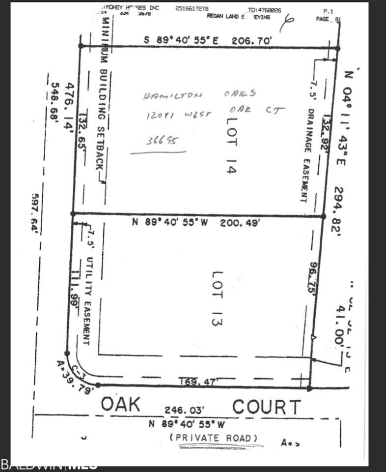 0 Hamilton Oaks Lane, Mobile, AL 36695