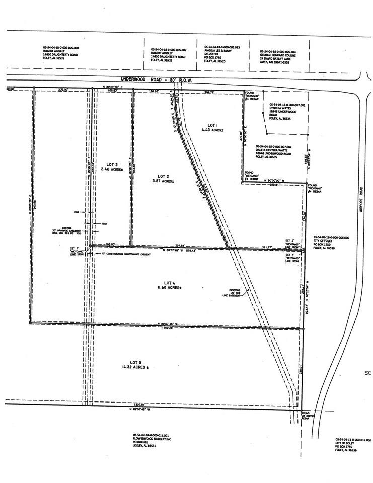 Lot 2 Underwood Road, Foley, AL 36535