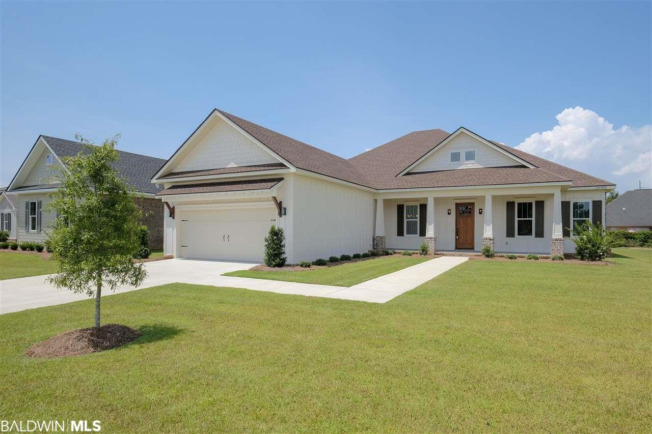 This home is under construction in new, custom neighborhood in Daphne: Bailey Place. Built by ARK Builders. Estimated completion date is between end of December 2018 to February 2019.  4BR | 3BA | 1 story | 2647 sq ft | 2 car gar | split bedroom | open concept. Craftsman/Gold Fortified. This home was just designed by the builder and has great features such as separate dining room and spa like master bath with 2 master bedroom closets. Appliances are stainless steel, large kitchen island which is open to great room and breakfast room. Gas log fireplace in great room with gas starter, large open back porch, custom cabinets & trim work, 10' ceilings, 8' doors, tank-less water heater, tongue & groove porch ceilings. Irrigation system. Tons of upgrades. See the ARK Builders difference! Agent is related to builder | seller. Builder reserves the rights to make changes to all specs/finishes.