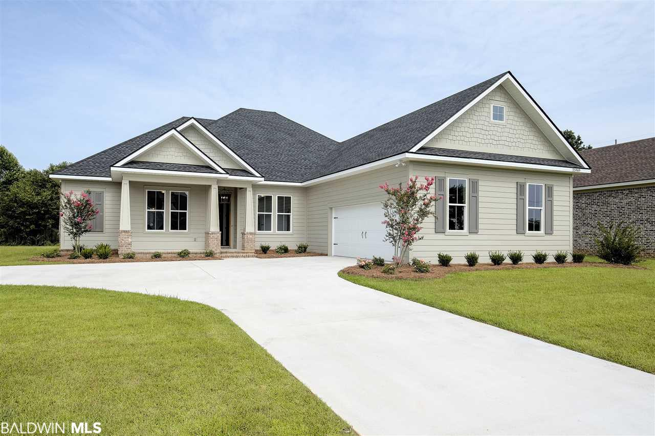 New construction Craftsman home by ARK Builders being built in one of Daphne's newest subdivisions, Bailey Place. Centrally located close to I-10, shopping, dining and schools. Built by ARK Builders with an estimated completion date of Dec 2018 to Feb 2019.  4BR | 3BA | study | 2467 sq ft | 1 story | 2 car courtyard entry garage | split bedroom | open concept. Craftsman/Gold Fortified. Fresh, new custom drawn plan with separate study, all walk in closets in bedrooms, large laundry room and huge rear porch. The master suite has 2 walk-in closets, dual vanities, separate shower and garden tub. The kitchen has to the ceiling cabinets and stainless-steel appliances. Gold Fortified so your insurance prices will be quite affordable. Gas log fireplace in great room with gas starter, 10' ceilings, 8' doors, tank-less water heater, tongue & groove porch ceilings. Irrigation system. Agent is related to builder/seller. Builder reserves the rights to make changes to all specs/finishes.
