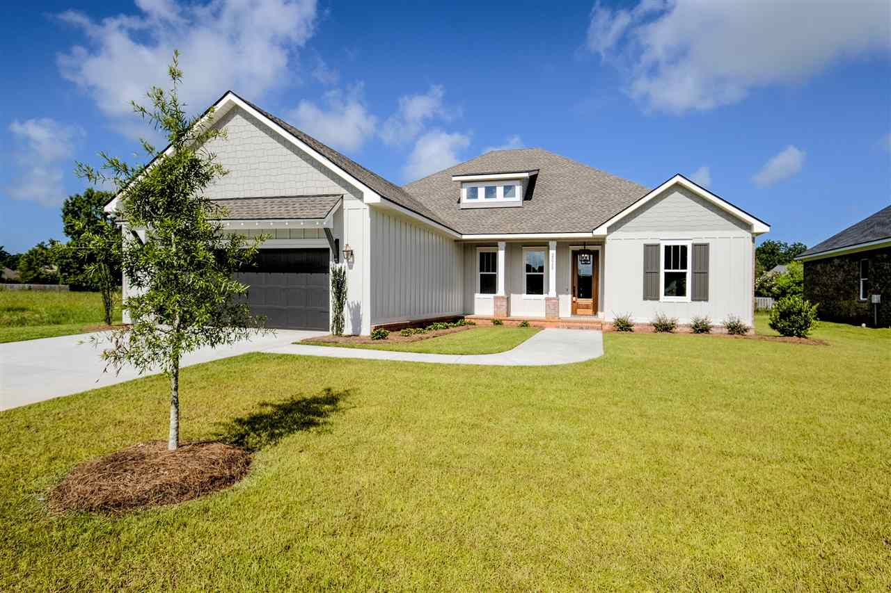 Precious new home that is under construction in one of Daphne's newest subdivisions, Bailey Place. Expected completion date is Dec 2018 to Feb 2019. This new neighborhood is centrally located close to I-10, shopping, dining and schools. This home was designed by the builder & his designer and is very functional.  3BR | 2.5BA | study | 2572 sq ft | 1 story | 2 car front entry garage | split bedroom | open concept. This home has a study/office and all bedrooms have true walk – in closets. The great room is 16 x 20 and has a gas log/gas starter fireplace with built in cabinets. This beautiful kitchen has seating at the island, stainless steel appliances and lots of cabinets! Bedrooms 2 & 3 are 12 x 14 and are separated by a Jack-n-Jill bathroom. The master bathroom has a water closet, walk through shower, dual vanities, linen cabinet  and a giant master bedroom closet that you can walk through to the laundry room. There is a storage closet and sink in the laundry room. As you walk into the home from the garage, there is an L-shaped mud bench for putting all of your shoes, bags, etc. Since this home is Gold Fortified so your insurance prices will be quite affordable. Flooring: hardwood, tile, carpet. Cabinets: Shaker/flat panel painted. Hurricane panels. 10' ceilings, 8' doors, tank-less water heater, tongue & groove porch ceilings. Irrigation system. See the ARK Builders difference! Agent is related to builder/seller. Builder reserves the rights to make changes to all specs/finishes.