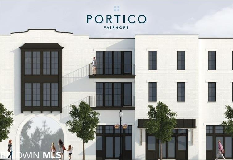 Now accepting reservations for Portico. Portico is a premiere offering of luxury living in downtown Fairhope.  The Bancroft floor plan is a two story corner unit and features 3 bedrooms and 2.5 baths, chef's kitchen, open living and dining design master on the main level and a large balcony overlooking Fairhope Ave.  This unit is perfect for your weekend getaway or primary residence.   Need not be built- association fees to be determined.