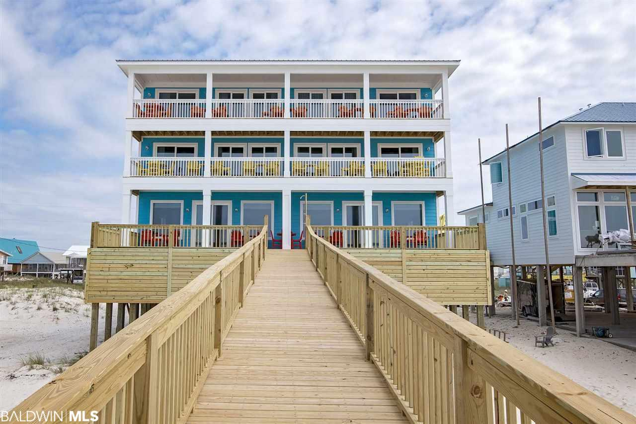 Completed in late May of 2017, Easy Breezy is ready for you and your group to come and make life long memories in! Easy Breezy is a 18 bedroom, 18 bath, 2 half bath duplex that sleeps 22 (per side). Easy Breezy is direct gulf front and offers amazing views of the white sandy beaches and crystal blue waters of the Alabama Gulf Coast.  The home is 3 stories and has balconies on all 3 levels.  There is  a private pool per side , ample parking, WiFi/Internet, Cable/Satellite, and much more(per side). There is also an elevator that services one side. This house is a Vacation Rental on Prickett Properties Management program. The house is rented most of the time so as much advanced notice as possible please  Approx. living area is 8354 with around 1800 feet of porches and pools   2018 Gross Rental Revenue $344,761.68.  Don't miss out on this Rental Machine