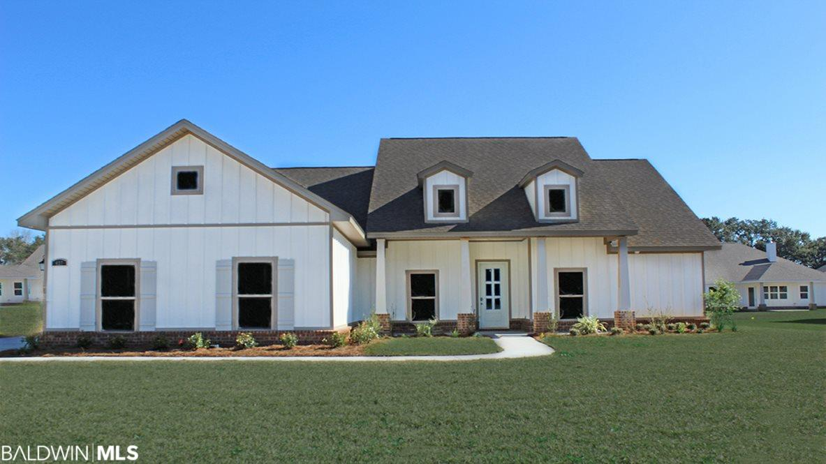 """UNDER CONSTRUCTION.  Located just minutes from charming downtown Fairhope and beautiful Mobile Bay, NEW Emerald Homes in Firethorne offers luxury living with resort-style amenities.  Impeccable finishes and attention to detail are abundant in this Craftsman style OSPREY-A home.  Once inside you will find soaring 10'-12' ceilings, 8' interior doors, 5"""" hardwood floors, oversized 6"""" base, and cove crown molding throughout.  The Gourmet Kitchen showcases designer painted Shaker cabinetry, 5-burner gas cooktop with vented chef hood, Farmhouse sink, granite countertops, subway tile backsplash and a large culinary prep island.  The dining room features custom designed wainscoting and opens to the spacious Great Room with beautiful SHIPLAP detail gas burning fireplace.  Enjoy the sunroom and the large covered back porch with gas stub for grilling.  Perfect for outdoor dinners and entertaining!  The Master sanctuary boasts a relaxing soaking tub, separate tile shower and huge walk in closet with wood shelving.  Simplify your life with Home is Connected (SM) Smart Home technology (see Sales Rep for details on smart home features), 4-zone programable irrigation system and tankless gas water heater.  Home is being built to Gold FORTIFIED certification, which may save up to 50% on annual homeowners insurance, and comes with a 1 yr builders / 10 yr structural warranty.  Community amenities include a large spa like pool, outdoor grilling pavilion, children's play area, tennis, basketball court, and a Whiffle Ball field. Photos are of similar home and not of subject property, including interior and exterior colors, options and finishes.  ESTIMATED COMPLETION- August 2019"""