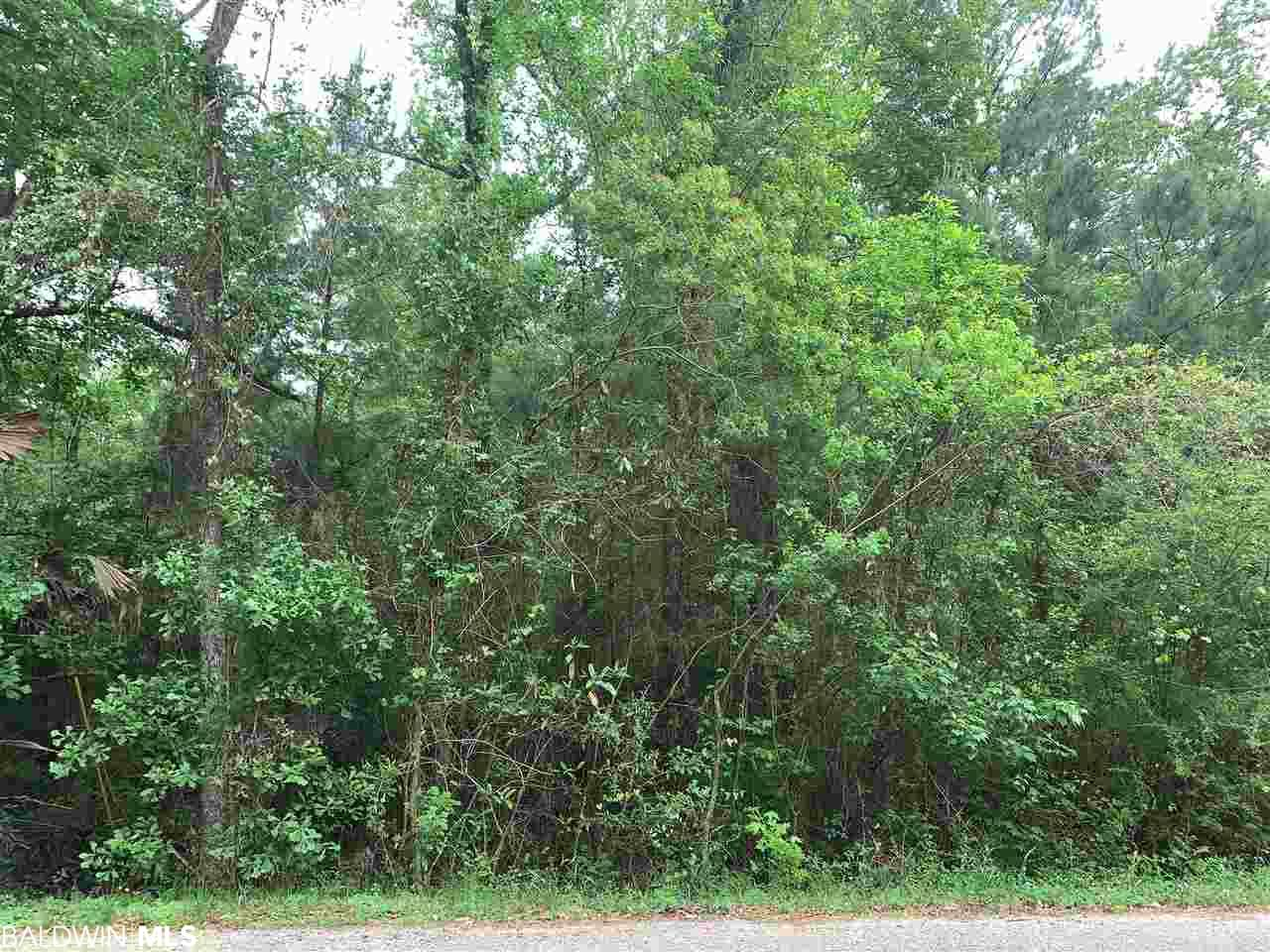 Wooded lot across from Fish River. Enjoy a private setting with great access to nature, beaches & shopping. PRICED to sell. MOTIVATED seller. Mobile homes are not allowed pursuant of Restrictions.
