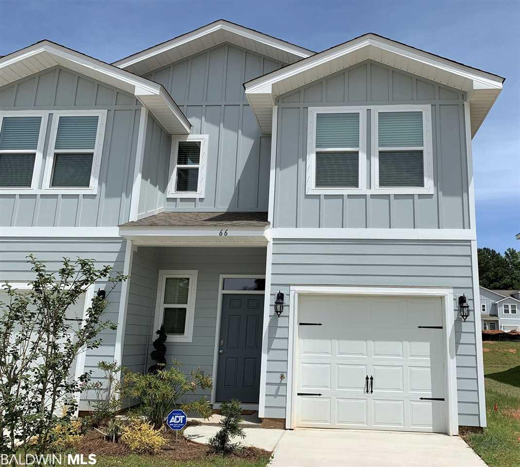 GOLD FORTIFIED!  Completed in 2019, Seller is relocating out of state after living here a few months – Shows like Brand New!  Corner Unit Townhome with extra windows for added sunlight.  Features include luxury plank vinyl flooring, open floor plan, Kitchen with Breakfast bar and Stainless Steel Appliances, 3 Bedrooms/2.5 Baths with Attached Single Garage.  HOA handles landscape maintenance, insurance on building exterior, Association management, and common area amenities.   The Villas at St. Charles offers a Clubhouse, Exercise Room, and Outdoor Pool in a Gated Neighborhood close to downtown Daphne, Schools and Shopping. This is the only unit currently available – MUST SEE!    All information provided is deemed reliable but not guaranteed. Buyer or buyer's agent to verify all information.