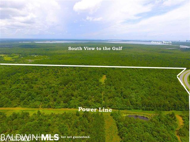 """245+/- Acres on the Beach Express and Roscoe Road. Property is located on the South East Corner of Roscoe Road and Beach Express, just a few miles from the toll bridge in Orange Beach.  This listing includes PPIN#14218 -and part of PPIN#67406 and PPIN#41303. This listing """"EXCLUDES"""" and does not convey(approximately 25+/-acres)on the South west corner of Rosco Rd and Beach Express intersection. These parcels include uplands and wetlands and is being sold """"As Is"""".  Calling all Brokers, Conservationist, Sustainable Living Advocates, and Investors. This is a unique opportunity to own over 245+/- acres on the Beach Express and Rosco Road, close to the Wharf, Orange Beach, Gulf Shores and the Beach. Do not attempt to enter property without expressed permission of listing agent, there is an active hunting lease. SAFETY FIRST."""