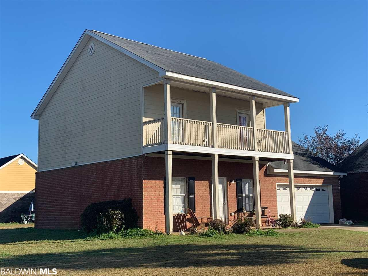 ATTENTION INVESTORS! TENANT OCCUPIED. Nice Two Story Home on a corner lot located in a Great Location Convenient to Hwy 59 and the Foley Beach Expressway.