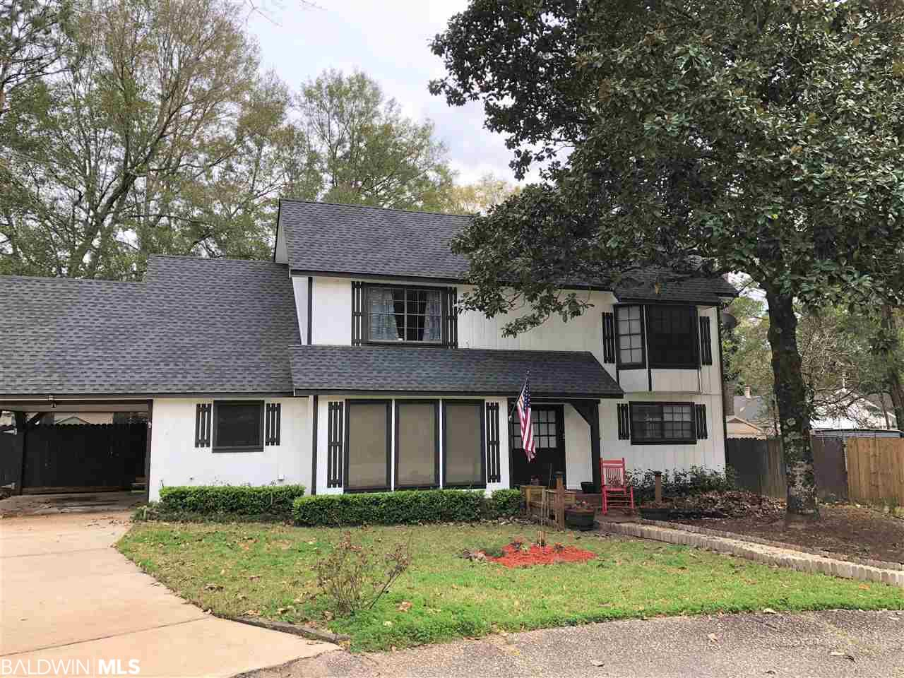Fantastic 3bed/3bath home on quiet culdesac with a level yard. New water heater in 2020. New roof in 2017. New hardwood & tile flooring throughout in 2018. No carpet. New HVAC in 2019. Living room has stone wood burning fireplace with high ceiling and exposed beams, along with two sets of french doors leading to patio. Open floor plan has dining area that is currently used as additional seating area. Granite countertops in kitchen with lots of storage and nice island for extra space. Bright sunny breakfast area adjacent to kitchen. Bedroom downstairs currently used as office. Full bath downstairs renovated in 2018. Upstairs are two large bedrooms, each with ensuite bath. Walk-in attic has plenty of storage space.   Big backyard completely fenced.  Private patio . All updates per owner.  Lake Forest is a golf community that offers three newly renovated neighborhood pools, three playgrounds, tennis courts, The 19th Hole Clubhouse, stables for horseback riding, and the Lake Forest Yacht Club.