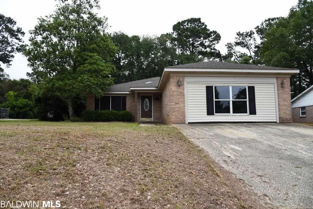 """What a deal!! Have you ever wanted to """"flip"""" a house? or looking for a property you can buy below market and put a little work into yourself? Look no further! Opportunity awaits!!This home is located in popular Lake Forest, but close enough to be just a couple minutes off of Highway 98. With quick access to Mobile and the rest of the Eastern Shore this is an ideal location for your convenience. This is a brick home with a lot to offer for a buyer looking for some built in equity. Please verify all square footage and work needed. Home currently has power/water activated but any other utility activation and inspections will be the responsibility of the buyer. Home sold as is, no repairs. All measurements are approximate and not guaranteed."""