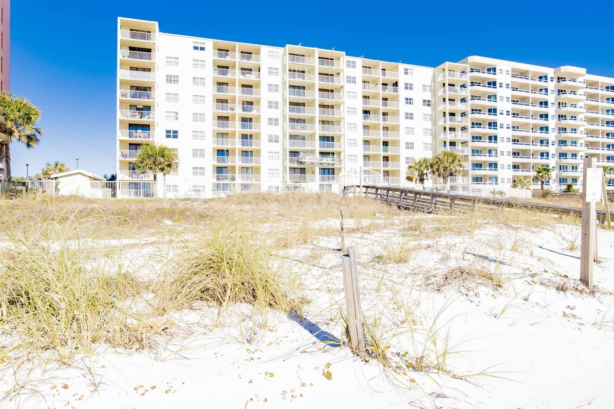 This unique 2-story townhome style condo is a must see!!  Located in the heart of Orange Beach walking distance to shopping and dining! Two living spaces downstairs. Three bedrooms & 3 baths with 1400sf there is plenty of room to entertain and spread out. Not to mention the rooftop terrace in addition to the TWO beach front balconies, this is one of a kind. Kitchen & baths remodeled in 2020, new fridge in 2020, new water heater in 2019 and HVAC replaced in 2016 to name a few.  Beautiful granite counters with stainless steel appliances and tile floors throughout.  Tiled shower with sunken tub for relaxing after a fun day on the beach!!  This is one you will not want your clients to miss!!!