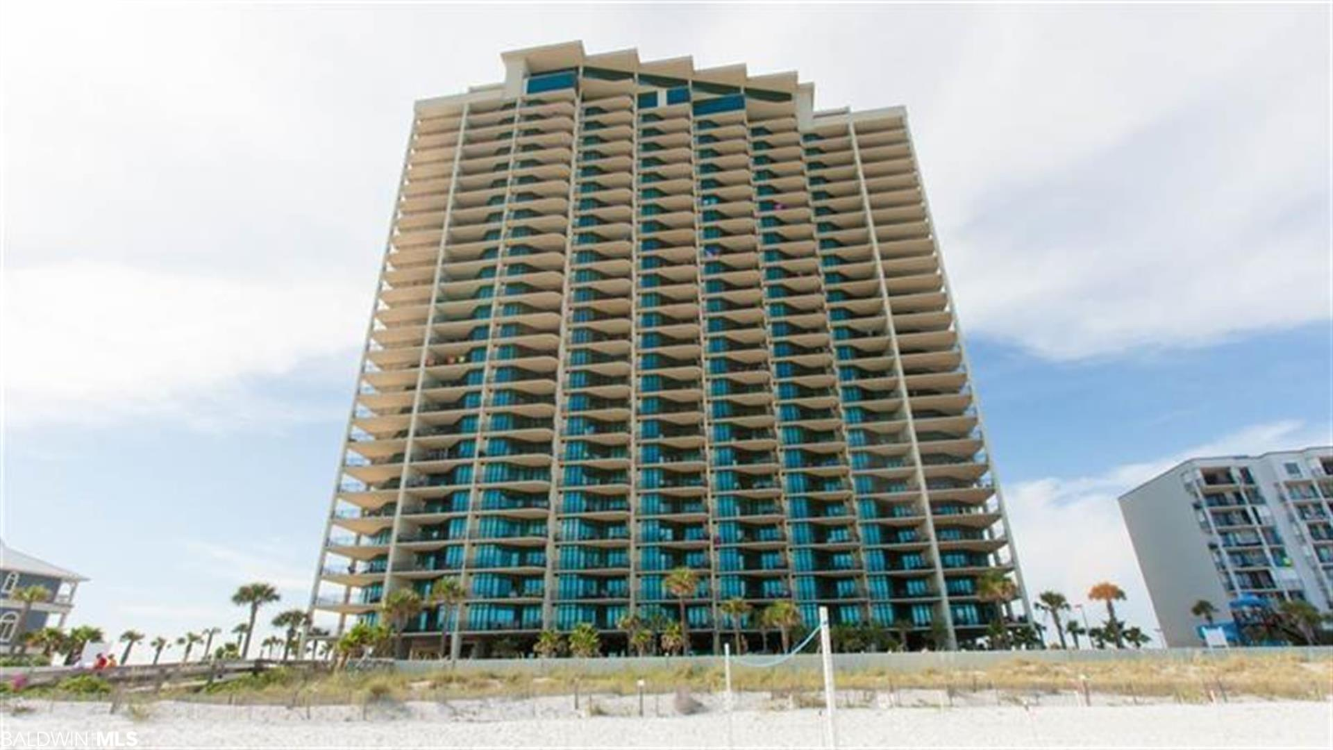 Skip the elevators and park on the same floor as your condo! This Gulf front beach condo boasts 3 bedrooms and 4 baths with a fully-equipped kitchen with granite counters and stainless steel appliances, wet bar with ice maker and a full-size washer and dryer.  Phoenix West offers fantastic amenities like a lazy river, water slide, zero-entry pool, kiddie pool, tennis courts, large indoor heated pool with hot tubs, grilling area and boardwalk with outdoor shower. You'll never have to leave once you get here!