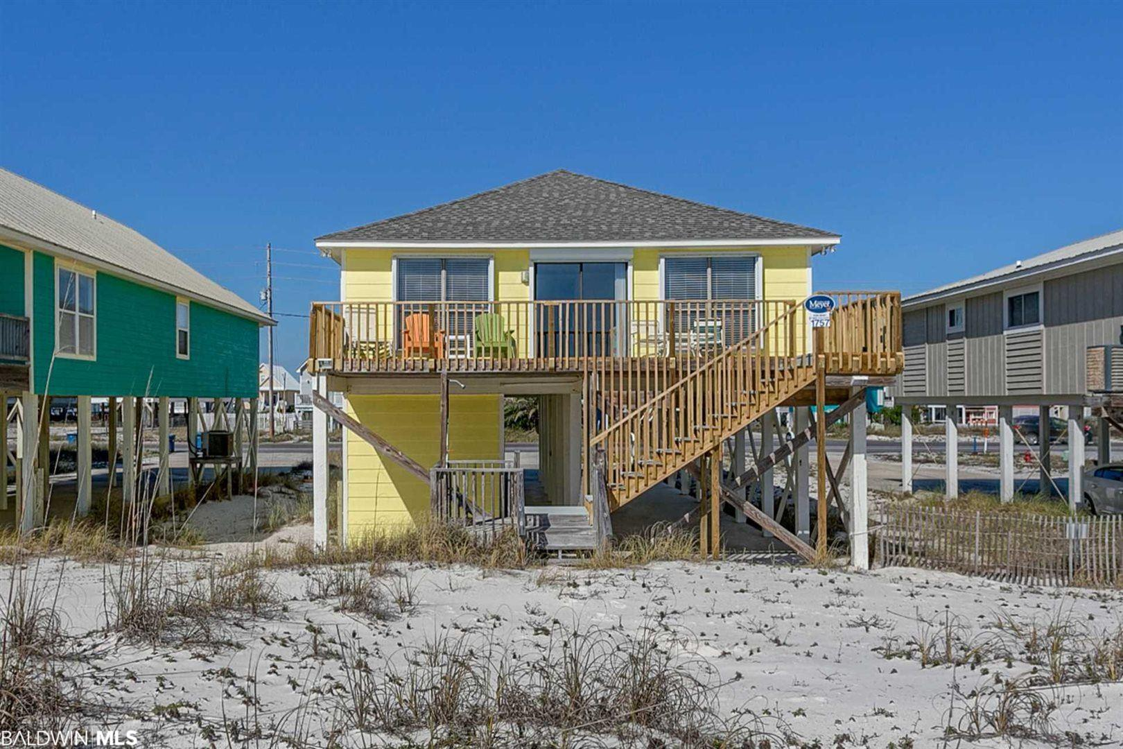 This is Three Shipps. A wonderful 4 bed gulf front home just past the pass bridge in West Beach. This house is super clean and ready to go. No damage from Sally. The large gulf front deck has wide open views of the Beach and Gulf waters. This 4 bed home sleeps 10 and has a solid rental history. If you are looking for a Gulf Front property Don't let this ship pass you by.
