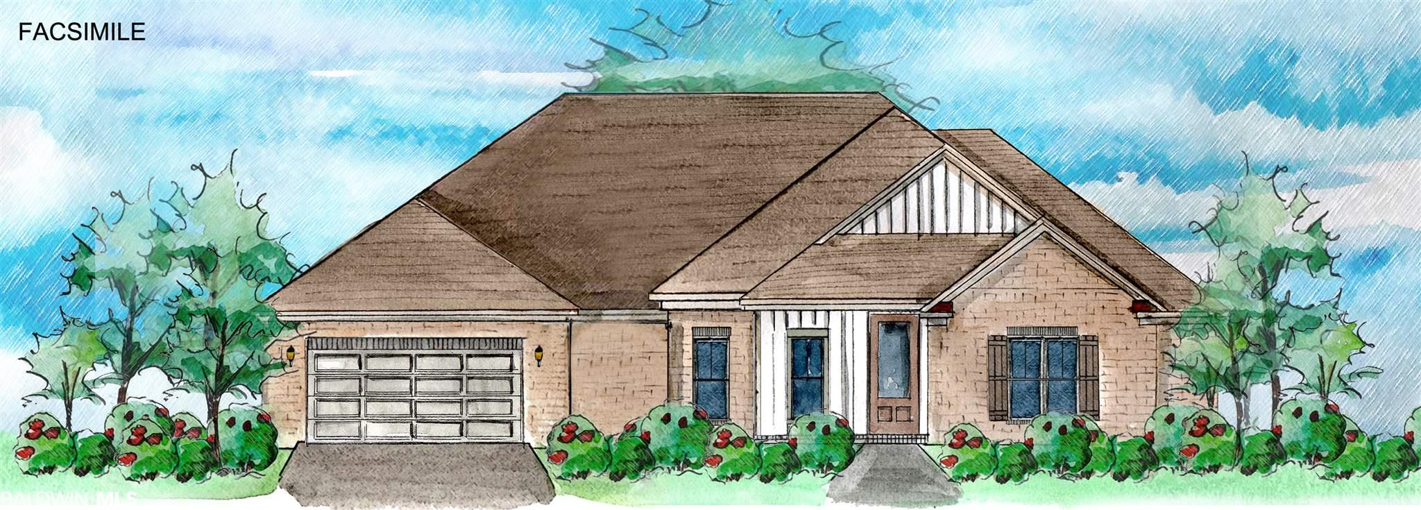 Welcome home to the Macon Plan by Truland Homes in The Tracery. This home comes tons of upgrades including wood flooring throughout the living, dining, kitchen area, granite counters in kitchen and master bath, gas log fireplace in the family room, custom-crafted cabinets throughout with painted upgrade in the kitchen, and ceramic tiled shower in master bath. From this impressive entry way into the great room with it's 10 foot ceiling surrounded by crown molding, it will catch your breath at the airy open space for living, dining, and entertaining. Planning, preparing and sharing meals here in the spacious island in the kitchen connected to a large breakfast area can be a joy. A roomy master sanctuary with vaulted ceiling and a bathroom with double vanities also his & her closets. Gather around the cozy corner fireplace, a comfort on cool southern evenings. Live surrounded by the tasteful finishes you've come to expect from a Truland Home, a solace after a day out in the world. Wood flooring, painted kitchen cabinets, built-in mud bench, large corner pantry, multiple walk-in closets, and Gold Fortified Certification, along with the comfort from a Builders Home Warranty. Tracery by Truland Homes a beautiful neighborhood that is tucked into the woods but minutes from everything Fairhope. Explore the Truland Homes to find them with height, light, open and with detail. Estimated completion December 2021. Fairhope Single Tax Colony land.