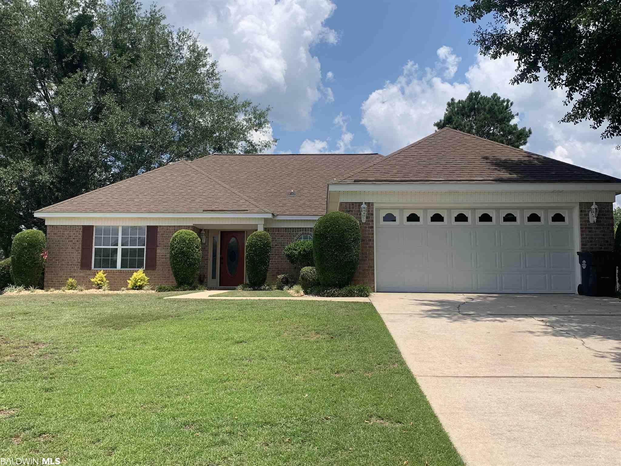 Curb Appeal! Pulling into this driveway you will notice the beautiful home with shade trees in the front and back yard. The back yard is completely privacy fenced. Great for outside activities and pets. As you enter the home, you will find a very open floor concept with hardwood floors. The gas fire places invites you to curl up by the fire. The kitchen shines with the stainless steel appliances and granite counter tops. French doors open up to a bonus room which can be used in a variety of ways. All this is under a new roof! Located in Robertsdale's Southfield Estates which is conveniently located on HWY 90 between the Beach Express and HWY 59 giving you easy access to Foley, Gulf Shores, Mobile and Pensacola. Listing company makes no representation as to accuracy of square footage; buyer to verify.