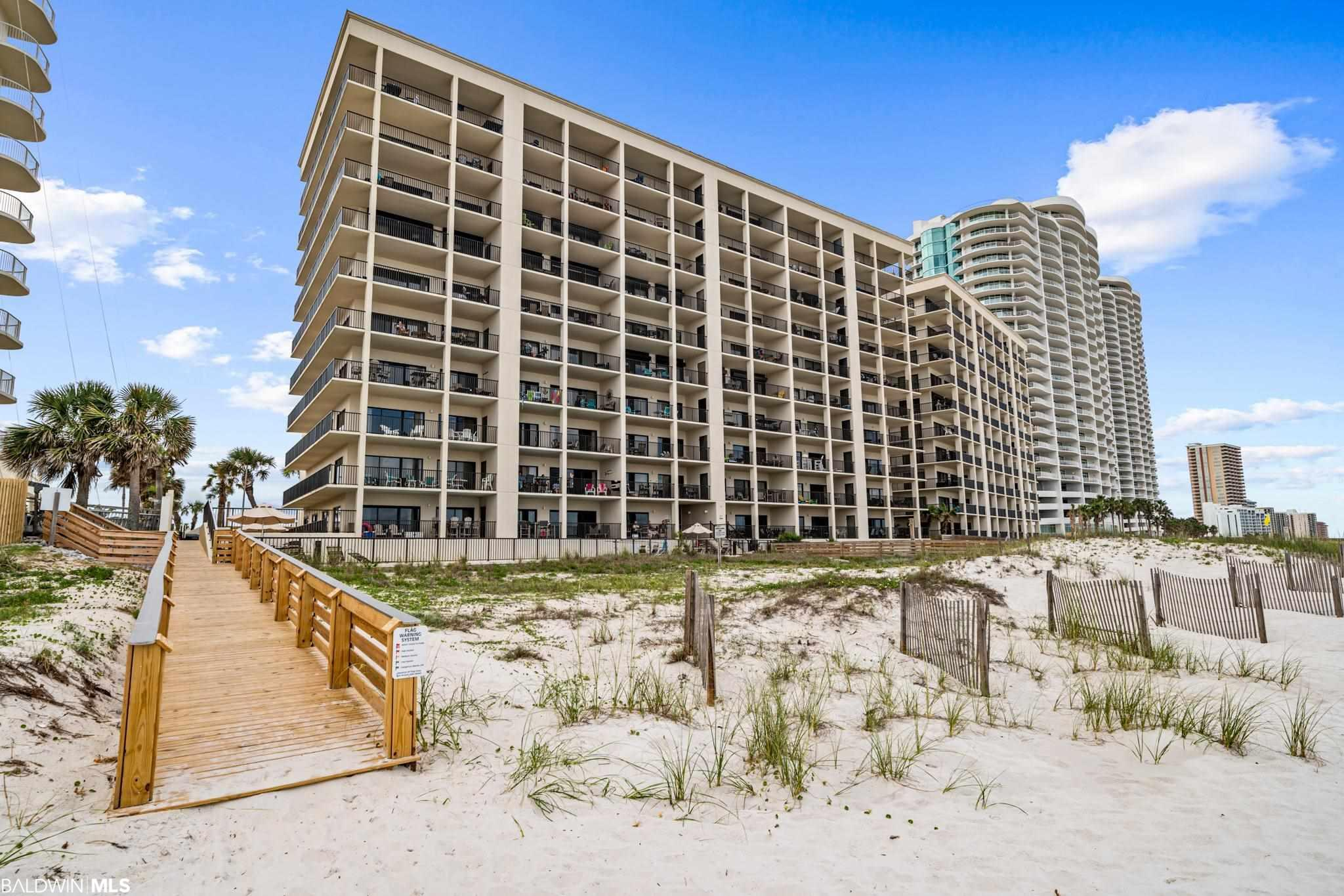 Direct Gulf front unit in the heart of Orange Beach, AL! Close to local restaurants, shopping, and entertainment. This 3 bed/2 bath unit offers breathtaking views of the Gulf of Mexico! Step out onto your very own private balcony, either from the living room or the master suite, and enjoy the amazing Gulf Coast sunsets and views of the white sandy beaches. The open kitchen is fully equipped with everything needed for you or your guests, and there is a full sized washer and dryer in the unit. This complex also offers some great amenities - beachside outdoor pool, indoor heated pool, sauna, grill area, tennis court, sun deck, fitness room, and private beach boardwalk. Check out the virtual tour video!