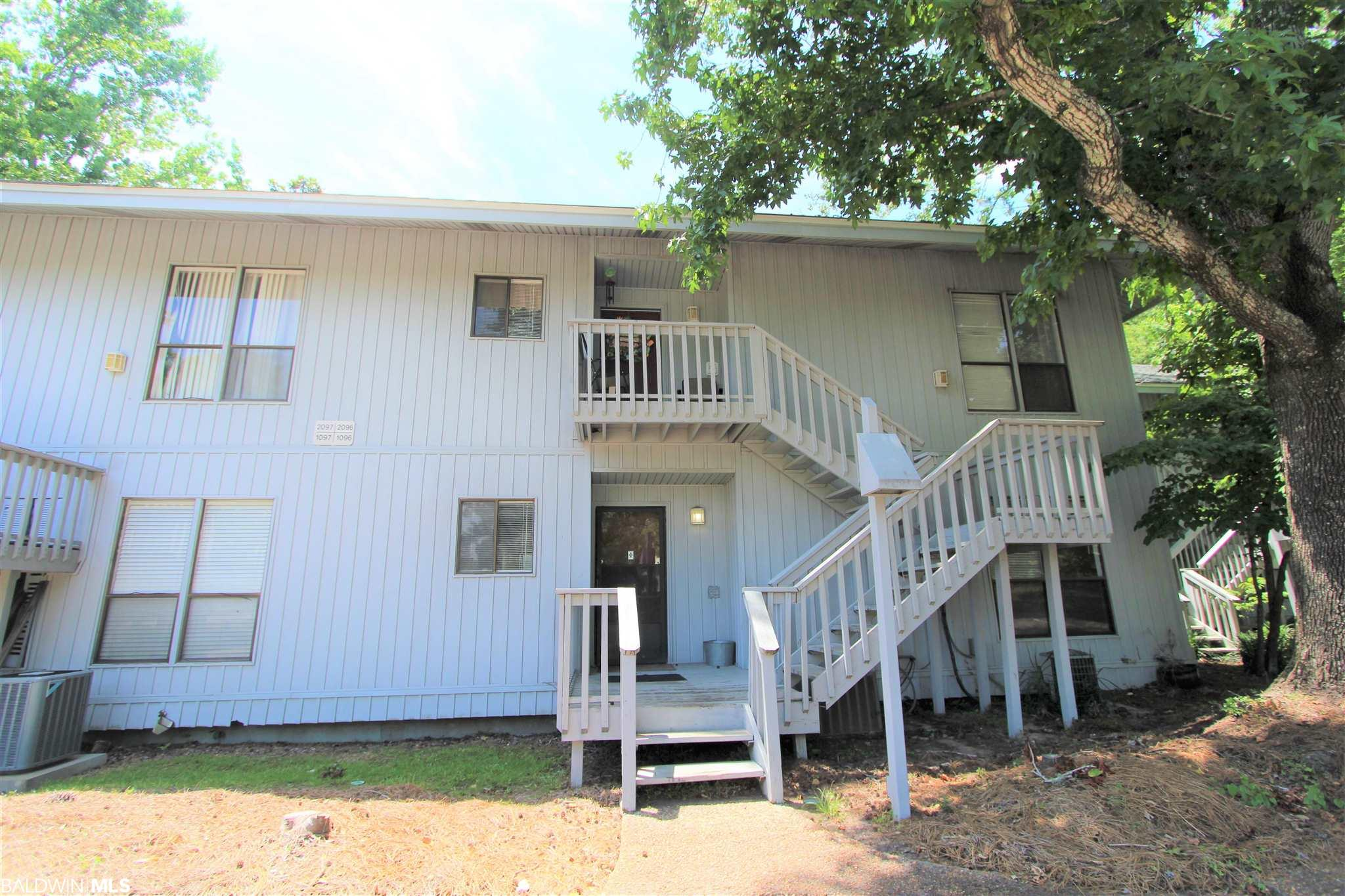Great starter home or investment property in prime location.  Sea Cliff South is only one mile from I-10 in Daphne and convenient to shopping, restaurants, and schools.  This 2 bedroom 2 bath unit with balcony overlooking the courtyard offers laminate flooring thru-out living areas, open plan, new AC unit, and 2 parking spaces.  Neutral colors thru-out, laundry closet, and refrigerator, washer, and dryer remain. Building exterior insurance, and trash are covered thru HOA dues of $173 per month.  Call for a showing as this property will not last long.   All information provided is deemed reliable but not guaranteed. Buyer or buyer's agent to verify all information.