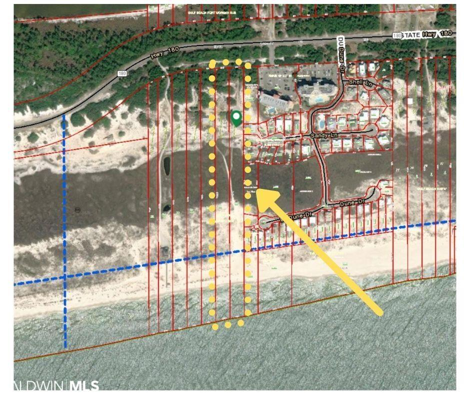 Incredible opportunity to develop this pristine 8+/- Acre Gulf front property with 200' total of water front in Fort Morgan. These are lots 6 & 7 and will only be sold together. Both lots (PPIN #021601 & #039516) are zoned RTF-4 in Planning District 25 section 2.3.25 which is 2 family residential. Subdivide the property and have the capability to build 2 Gulf front houses and 1 more second tier house on the same property for a total of 3 new beach houses. Best part is there is Beautifully updated 6 bedroom, 4 bath beach home on lot 6 that is bringing in around $115k per year in rent with a Tiny House that does around $40k per year sitting up high on the dune with incredible views. Have great income while you build your dream homes for investment or to sell. Both lots must be sold together. Seller will not sell separate. Come get your slice of paradise and build your dream homes today.