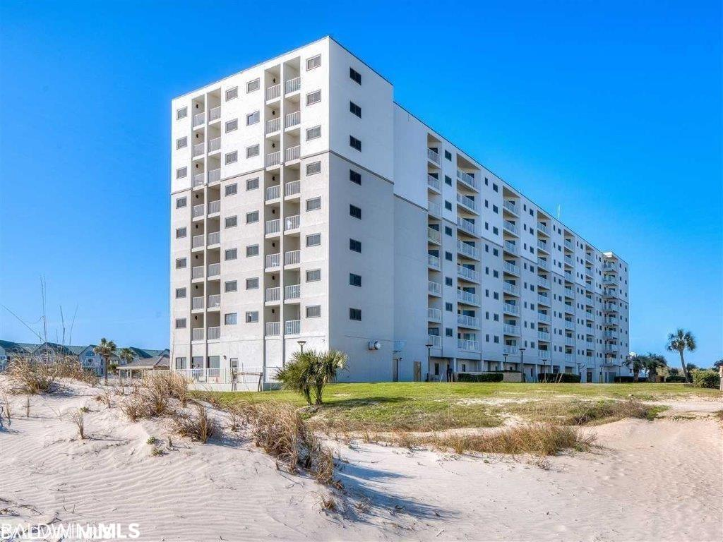This 2/2 newly furnished unit is turnkey & ready for guests. This beautiful unit has all of the upgrades you want in a gulf front condo.......an amazing balcony with endless views of the beach and shoreline. You can hear the waves crashing on the shoreline, high end cabinets in the kitchen, Corian countertops, brand new flooring throughout, adorable custom built beds in 2nd bedroom. This unit comes fully furnished. This 5th floor unit is perfectly positioned in the building to maximize your beach experience. The view is spectacular and will energize your senses. The building and amenities are amazing. 2 hot tubs, vending room, fitness center, tropical landscaped pool, tennis court, kids pool, putting green, and Sassy Bass restaurant on site serves breakfast, lunch & dinner. Kiva Dunes Golf Course on the Plantation property can also be used by guests of The Dunes. You get it all at this destination resort!