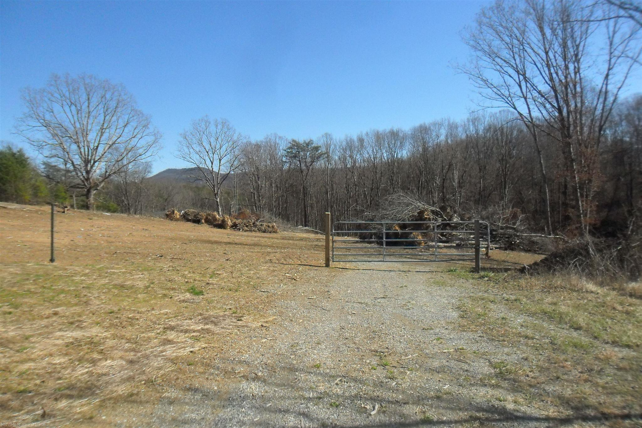 Nice tract of 22.7 acres. With about 2 acres graded next to the road. Timber and wildlife as the land slopes to front on Peak Creek. This land is not far from Gatewood Park and Jefferson National Forest.