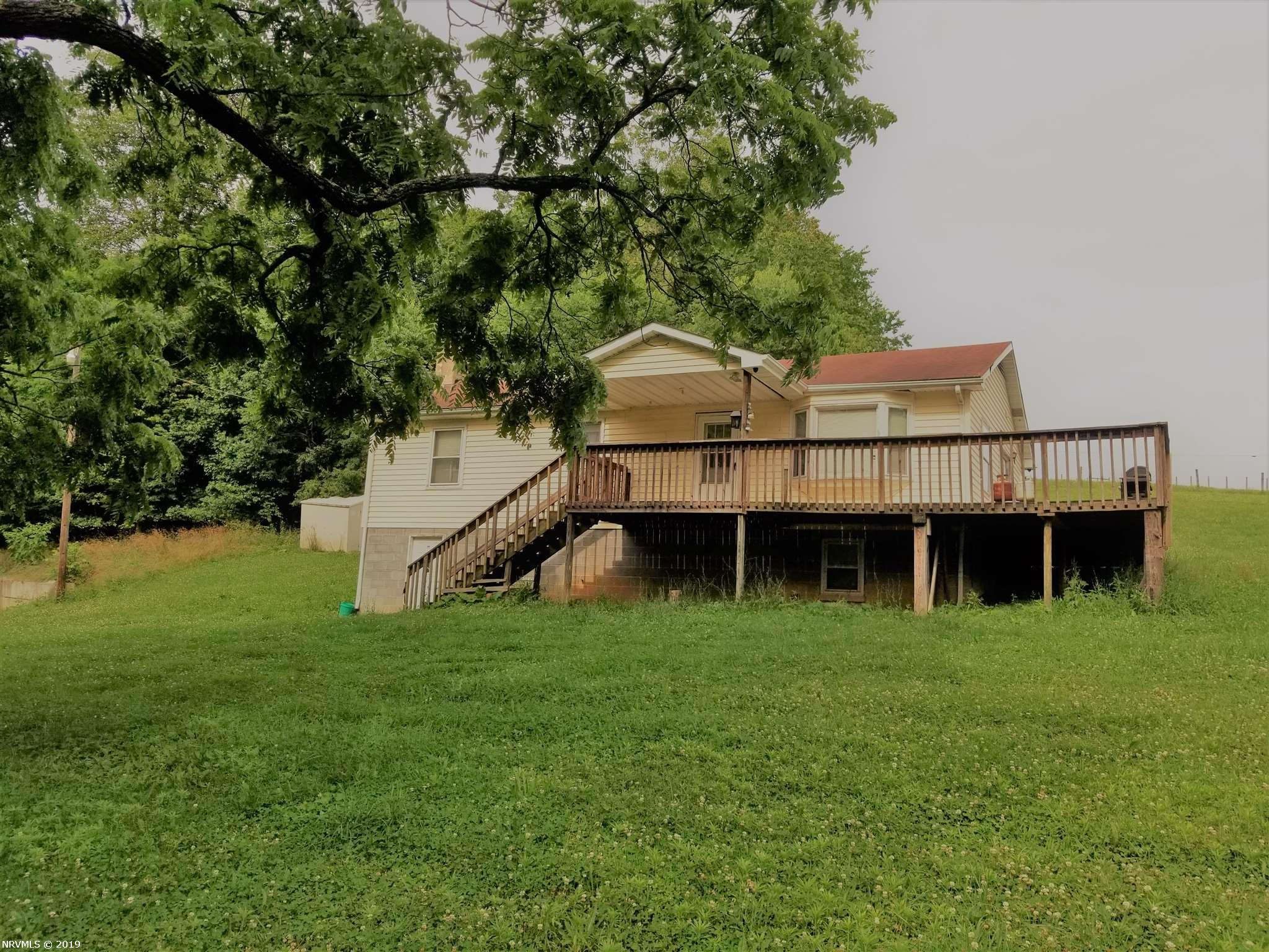 A must-see property! This is a wonderful place for rest and relaxation with beautiful views in the country after a long day. A little TLC you can transform this home into your little country paradise.