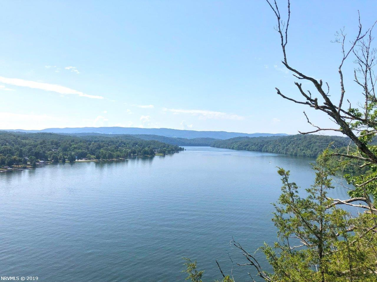 Beautiful lake front property on Claytor Lake. High bluff with long range lake and mountain views. Long cove with easy access to the water. Located on paved private drive. Large timber, pond, stream this lakefront property has it all. Private compound with unlimited potential.