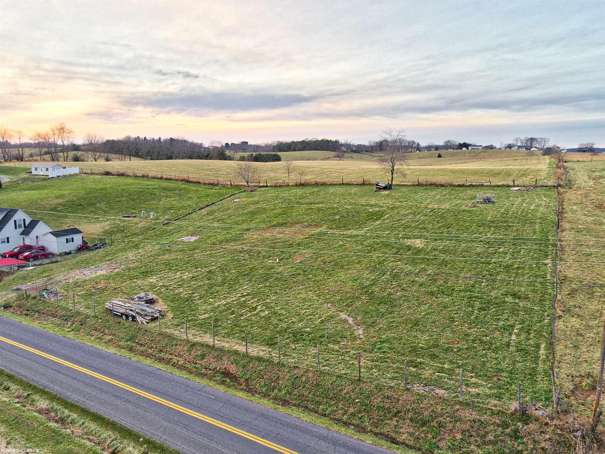 Beautiful one acre lot with an amazing view. Seller has already installed the well and septic system for a three bedroom home with a maximum of 4 permanent occupants. This lot is in a wonderful location, near schools and only minutes from the Town of Christiansburg. This would be a great location to build your dream home.