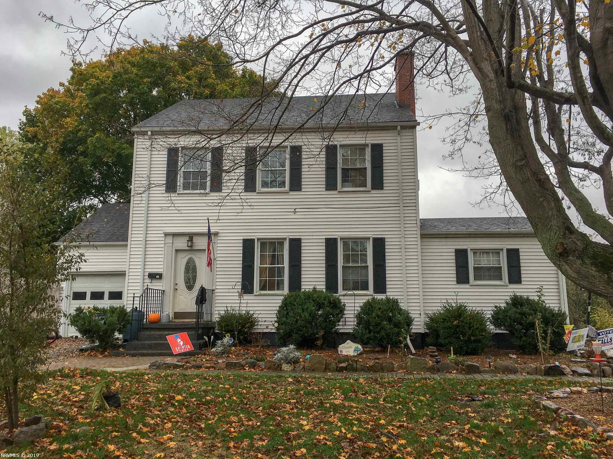 Two Story Colonial with tons of potential in sought after King Heights neighborhood! Large half acre lot. Original hardwood floors throughout. This is a great opportunity to grow into your forever home for a very reasonable price. Property conveys AS-IS.