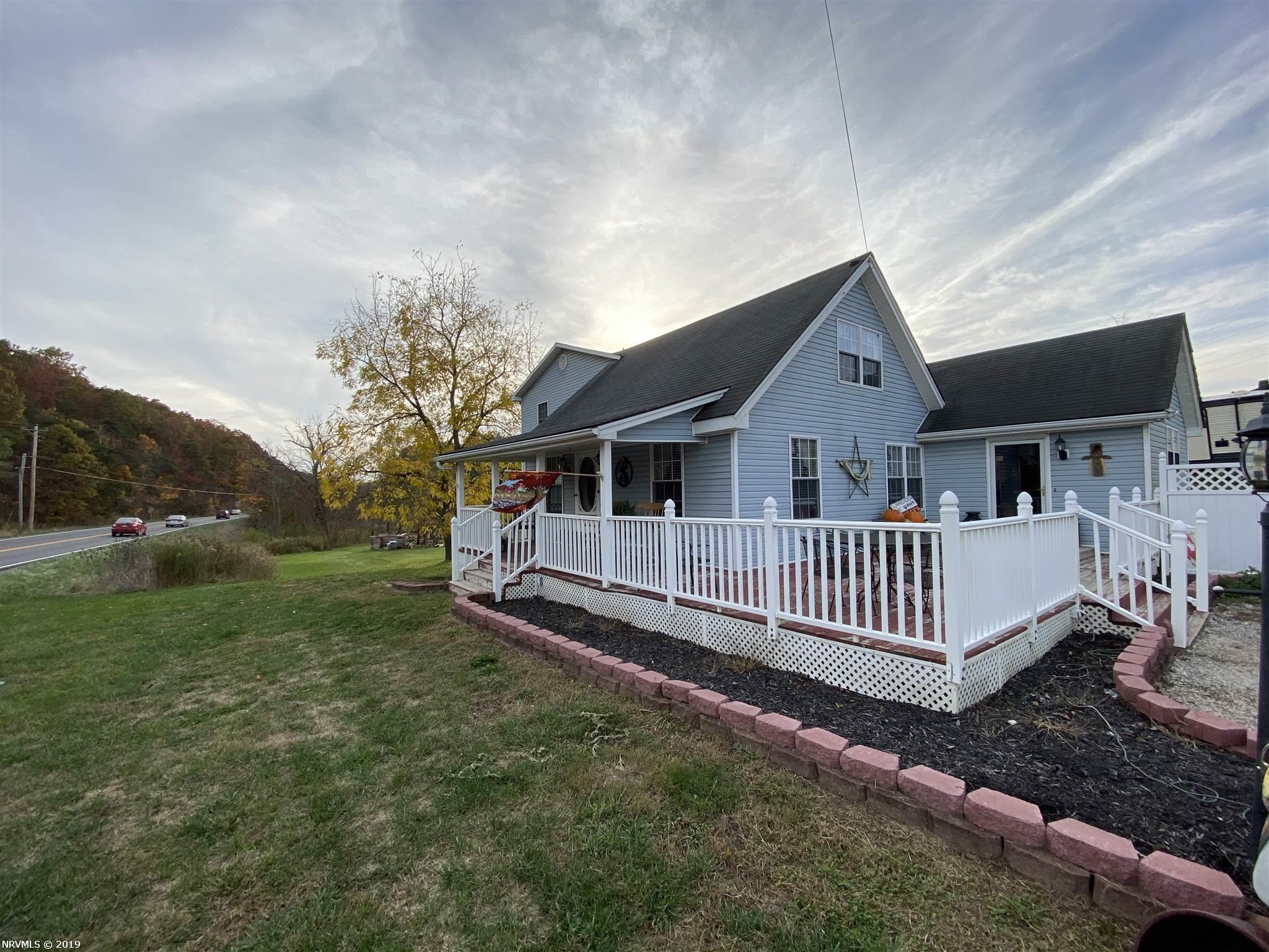 Remodeled & extended farmhouse in a convenient location! Enjoy the spacious deck, wraparound porch & rural views of this 2700+sf home, just off Route 8 & near exit 114. Easy access to Interstate 81 & Downtown Christiansburg. Three bedrooms, two bathrooms plus an office space provide just right amount of space, with charm & character. A must-see property!