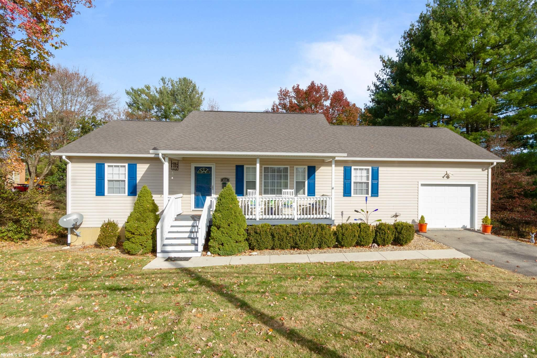 HOP, SKIP & JUMP FROM DUBLIN Middle School is this LIKE NEW 2008  Contemporary Ranch. Walk the kids to school & enjoy the convenience of this 3 Bedroom, 2 Bath home with Full Basement. Extras - LARGE Back Yard, Paved Driveway, Attached Single Garage, Generac Generator. Vaulted Ceilings in LR, Kitchen & DR. Master Suite With Walk-In Closet & Master Bath Room. All of the Stainless Steel appliances of Range, Ref., DW, MW & Disposal are Included. You Will Love the Hardwood Floors in LR & DR. Covered Front Porch & Remodeled Rear Deck off Dining Room.  This IMMACULATE HOME WILL NOT LAST LONG - Come See TODAY! Seller will leave Mini-Blinds & Generac Generator. Rented Propane Tank from SW Va. Gas Service. Basement has HIGH Ceiling, Walk-Out to Patio under Deck & Active Radon System. EXTRA Storage under Garage with plastic vapor barrier over dirt. Laundry Room has Pantry & Utility Closet. Garage has handicapped ramp which could be removed & Garage Door Opener.