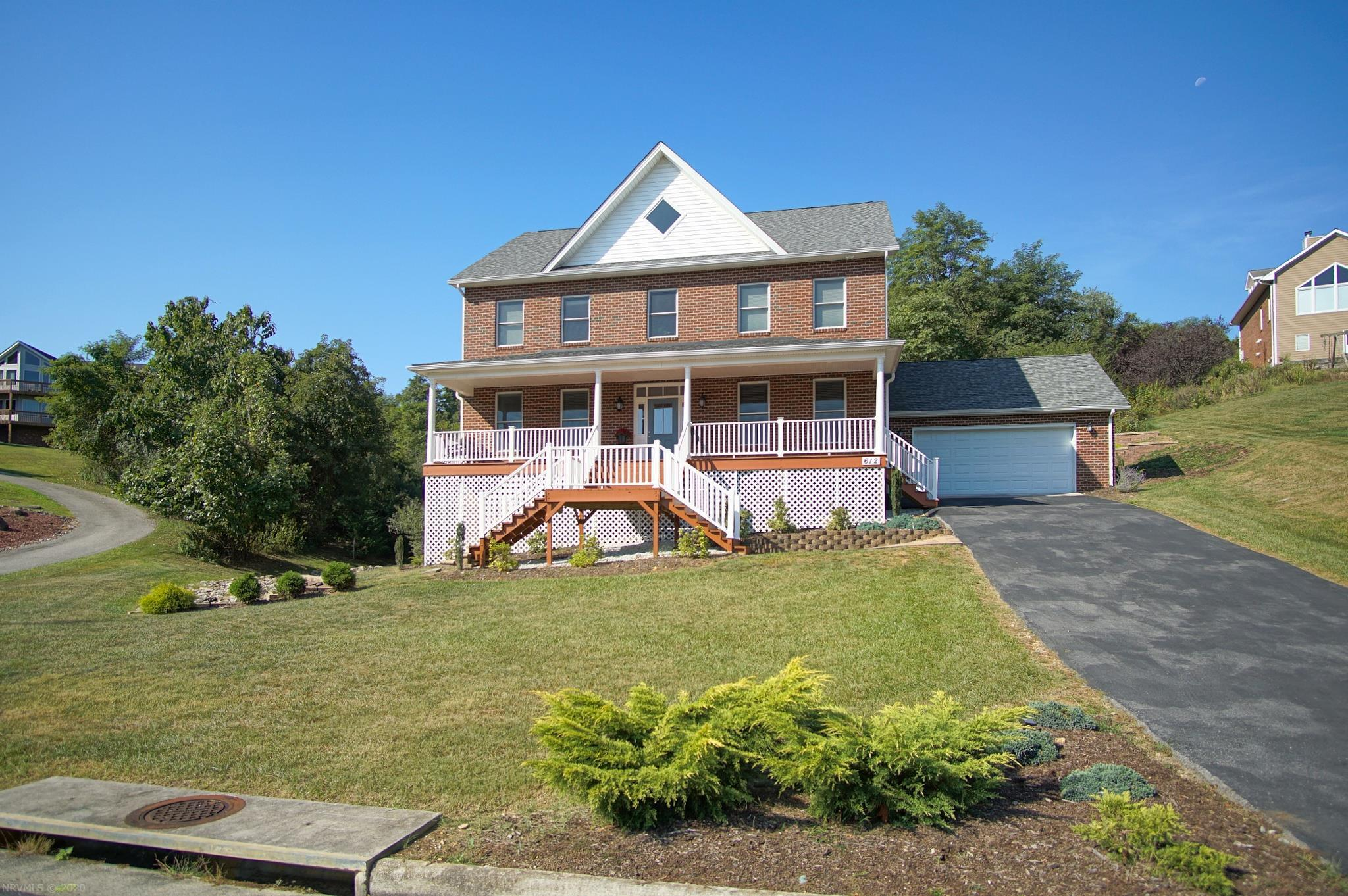 """Bright and spacious four level brick home in one of Blacksburg's most popular neighborhoods.  With 7 bedrooms and 5.5 bathrooms this home has room for everyone and is perfect for entertaining and has ample """"away"""" space.  The main level welcomes you with beautiful red oak flooring and large kitchen that opens into the family room and includes a formal living room and separate dining room and wet bar.  The next level up has 4 bedrooms and two bathrooms including a well appointed master suite.  The upper most level is bathed in sunlight and has a dynamic floor plan that can be a combination of rec/office/bedrooms with yet another full bath.  The finished basement has a huge rec/game room large enough for table tennis/billiards with room to spare, as well as another bedroom/office, and another large flex space perfect for craft or exercise room.  The exterior has been professionally hardscaped and landscaped.  There is nothing missing in this extraordinary home!"""