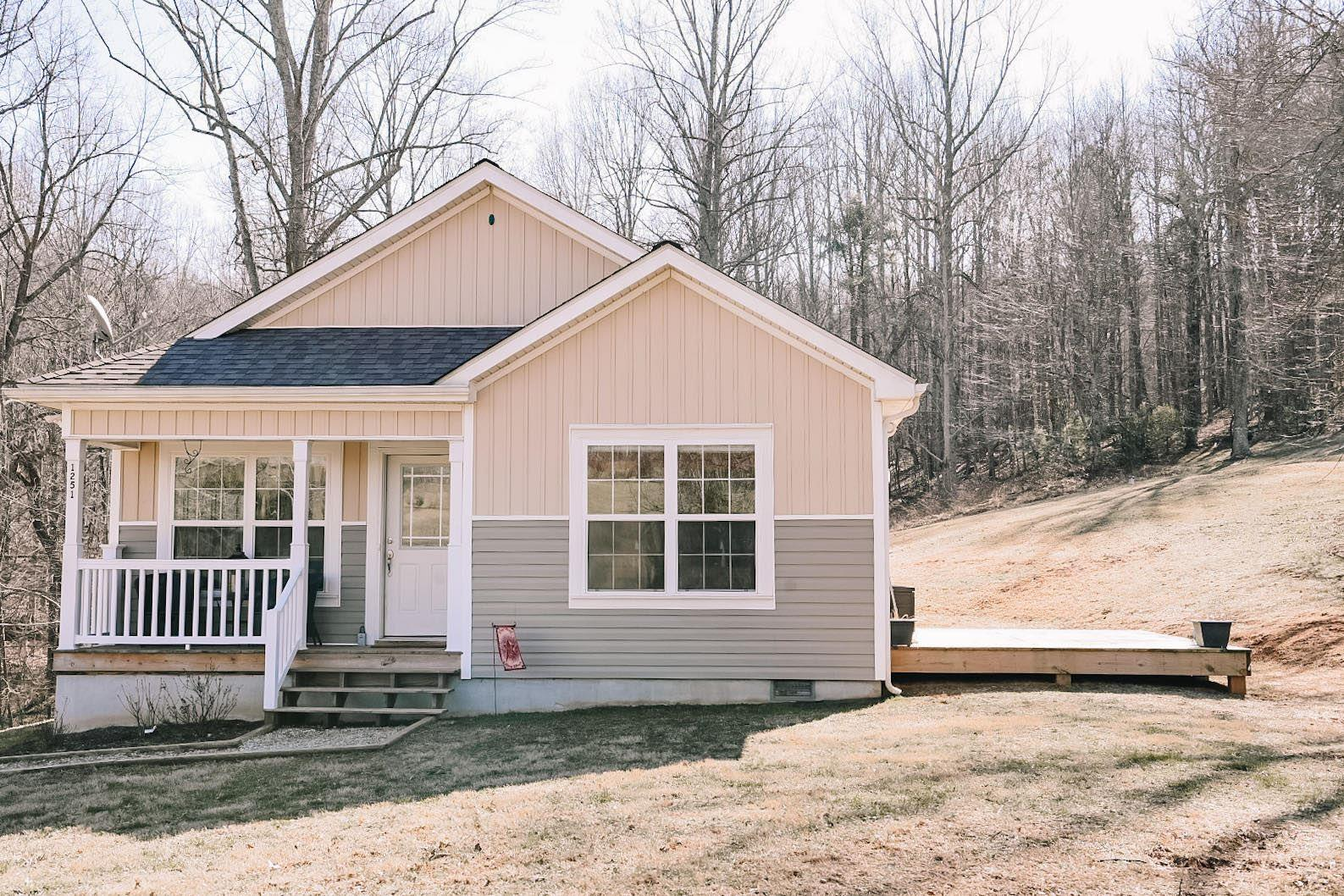 Must see like new construction on 3 acres only 5 minutes from Town of Floyd stoplight! 2 beds and 2 bath one level home with an open floor plan, beautiful wood floors, and stainless steal appliances. Perfect starter home or place to retire in the mountains.