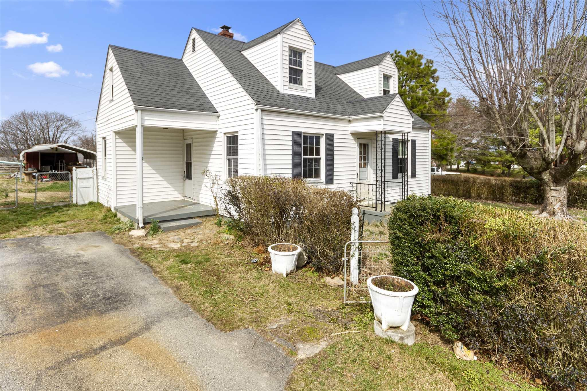 "Hops, Skips & Jumps from Dublin Elementary School. Don't have to be ""taxi Driver"" for growing family & walk to school. NEED 4 BEDROOMS? Come see this Cape Cod home with partial basement. On the main level - Living Room, Dining Room, Utility Room With W&D Hookups,Kitchen w/Range & Ref, 2 Bedrooms & Bath Rm. Upstairs - 2 Bedrms plus Extra closet off BR #3 Upstairs - 7.92 x 7.08. Enjoy the Paved Driveway & the level fenced back yard with storage bldg & carport. Outdoor table w/chairs & Grill conveys.Updated w/Ceramic Tile in Bathroom, Kitchen & Laundry. Heat Pump for Main & Upper levels. NEW Hot Water Heater - 2019. Access to Attic in upstairs Bedrm Closet. Plumbing for propane fireplace in Living Room.  Updated W/Vinyl Tilt Windows. Walk to Dublin Elementary School & Dublin Lions Recreation Field & Walking Trail in minutes. Only 4 Minutes & 2.3 Miles to I-81 & Wal-Mart. Original Hardwood Floors ready for your furniture. Happiness is tree-lined street & neighbors greeted by first name."