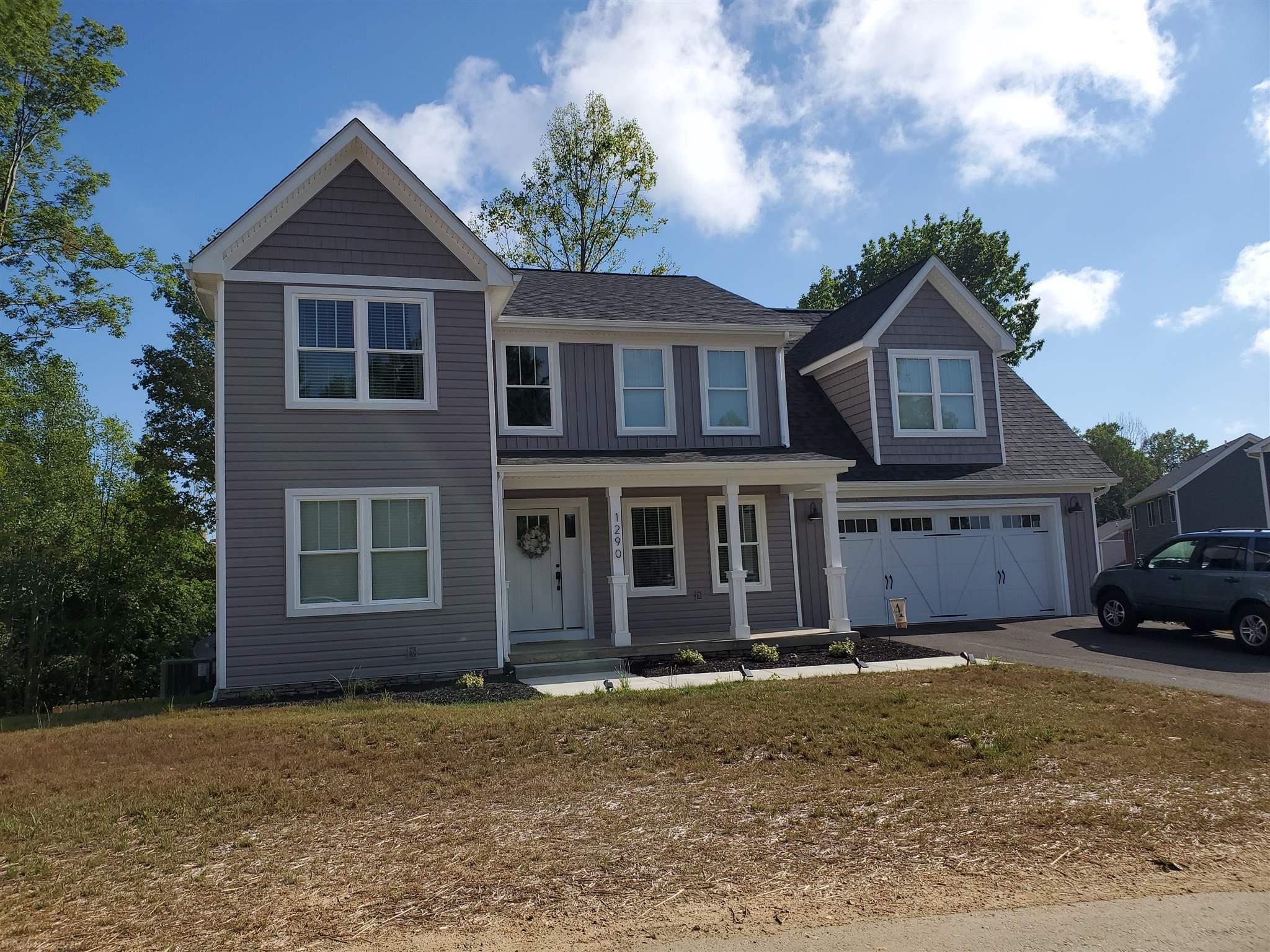 Craftsman Style Charmer with loads of curb appeal. Covered country style front porch. Beautiful Open floor plan. 4 BD, 2 1/2 BTHS, , fireplace in living room. Fabulous master suite & large attached 2-car garage all on a full, unfinished basement allowing room for future expansion. Cul-de-sac street close to walking trails, community playground, minutes to shopping & minutes to Blacksburg & easy commute to Salem & Roanoke. Buy Now and pick out all your favorite colors